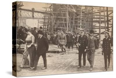 King George V and Queen Mary at a Sunderland shipyard during World War I, June 15th, 1917-Unknown-Stretched Canvas Print