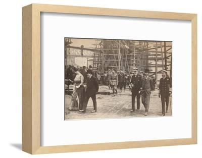 King George V and Queen Mary at a Sunderland shipyard during World War I, June 15th, 1917-Unknown-Framed Photographic Print