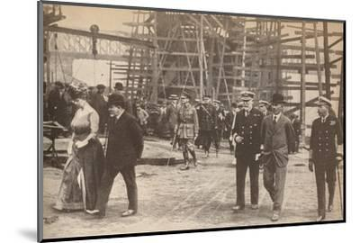 King George V and Queen Mary at a Sunderland shipyard during World War I, June 15th, 1917-Unknown-Mounted Photographic Print
