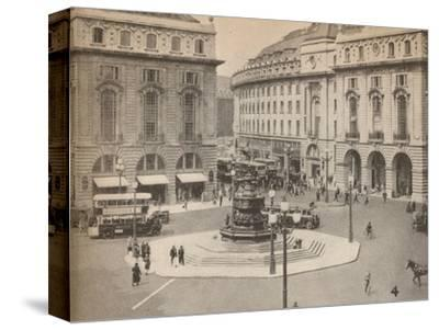 Piccadilly Circus 1931, (1935)-Unknown-Stretched Canvas Print