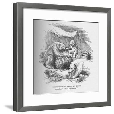 'The Cache Destroyed', c1856, (1928)-Unknown-Framed Giclee Print