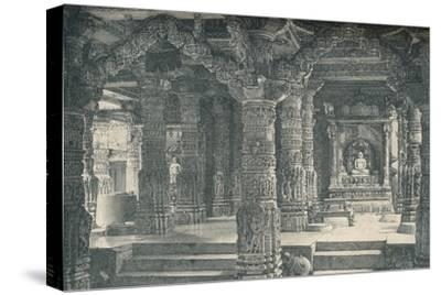 'The Interior of a Jain Temple at Mount Abu in Rajputana', c1903, (1904)-Unknown-Stretched Canvas Print