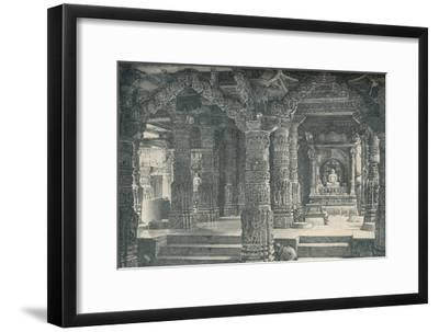 'The Interior of a Jain Temple at Mount Abu in Rajputana', c1903, (1904)-Unknown-Framed Giclee Print