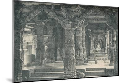 'The Interior of a Jain Temple at Mount Abu in Rajputana', c1903, (1904)-Unknown-Mounted Giclee Print