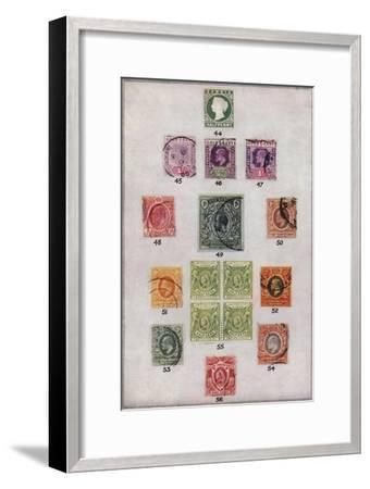 'Various Stamps of Africa Nos. 44-56', c1943, (1944)-Unknown-Framed Giclee Print