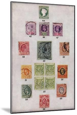 'Various Stamps of Africa Nos. 44-56', c1943, (1944)-Unknown-Mounted Giclee Print