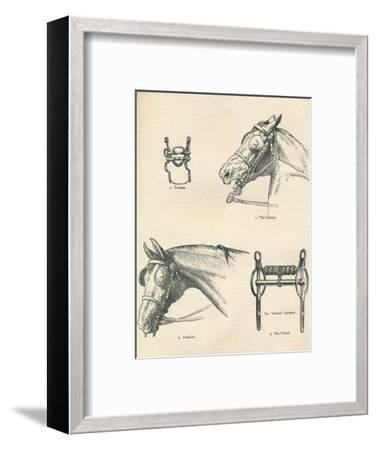 Horse bits, good and bad, c1909 (c1910)-Unknown-Framed Giclee Print
