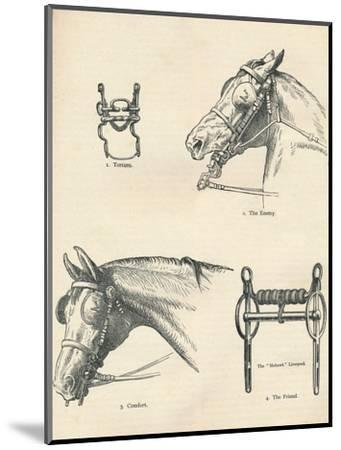 Horse bits, good and bad, c1909 (c1910)-Unknown-Mounted Giclee Print