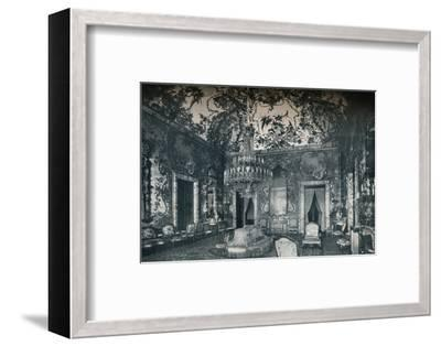 Large salon with porcelain ceiling, Royal Palace, Madrid, c1927-Unknown-Framed Photographic Print