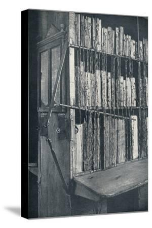 Bookcase, 15th century, with some later editions, and catalogue frame, 17th century, c1931-Unknown-Stretched Canvas Print
