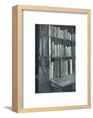 Bookcase, 15th century, with some later editions, and catalogue frame, 17th century, c1931-Unknown-Framed Photographic Print
