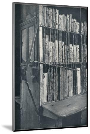 Bookcase, 15th century, with some later editions, and catalogue frame, 17th century, c1931-Unknown-Mounted Photographic Print