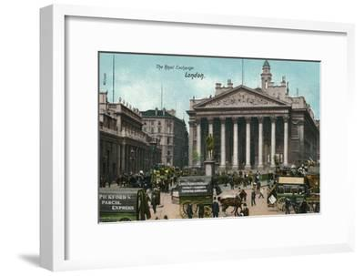 'The Royal Exchange, London', c1910-Unknown-Framed Giclee Print