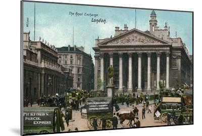'The Royal Exchange, London', c1910-Unknown-Mounted Giclee Print