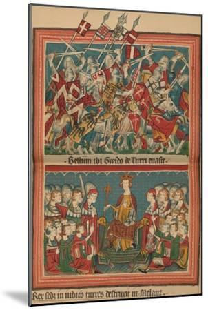 Battle and Court of Justice During Henry VII's March Upon Rome: A Page from the Codex Balduineus-Unknown-Mounted Giclee Print