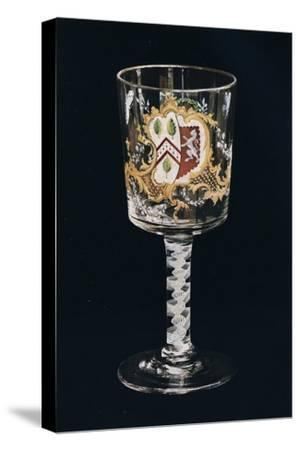 'Old English Glass Goblet', c1775-Unknown-Stretched Canvas Print