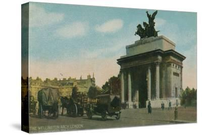 'The Wellington Arch, London', c1910-Unknown-Stretched Canvas Print