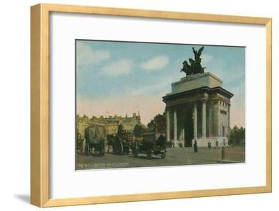 'The Wellington Arch, London', c1910-Unknown-Framed Giclee Print