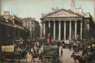 'Bank of England and Royal Exchange', c1910-Unknown-Framed Giclee Print