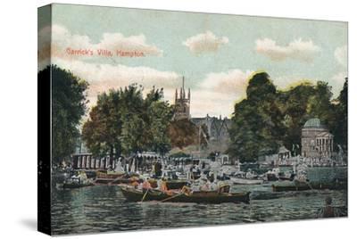 'Garrick's Villa, Hampton', c1910-Unknown-Stretched Canvas Print