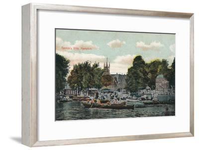 'Garrick's Villa, Hampton', c1910-Unknown-Framed Giclee Print