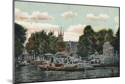 'Garrick's Villa, Hampton', c1910-Unknown-Mounted Giclee Print