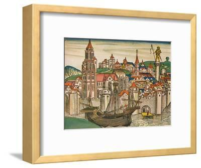 'The City of Treviso with a Carrack', 1493-Unknown-Framed Giclee Print