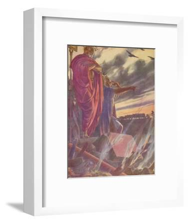'The city was given to the flames', 1912 (1912)-Unknown-Framed Giclee Print