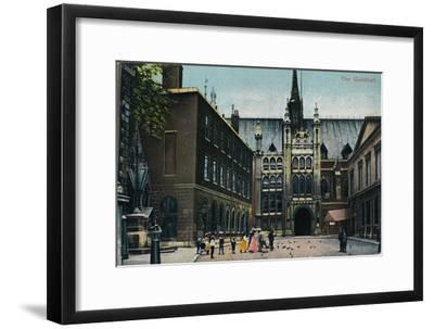 'The Guildhall', c1910-Unknown-Framed Giclee Print