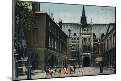 'The Guildhall', c1910-Unknown-Mounted Giclee Print