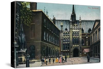 'The Guildhall', c1910-Unknown-Stretched Canvas Print