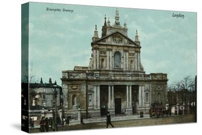 'Brompton Oratory, London', c1910-Unknown-Stretched Canvas Print