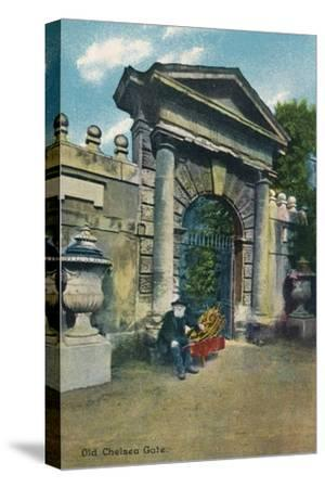 'Old Chelsea Gate', c1910-Unknown-Stretched Canvas Print