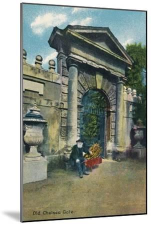 'Old Chelsea Gate', c1910-Unknown-Mounted Giclee Print