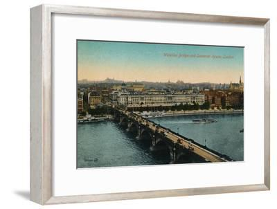 'Waterloo Bridge and Somerset House, London', c1910-Unknown-Framed Giclee Print