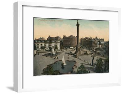 'Trafalgar Square, London', c1900-Unknown-Framed Giclee Print
