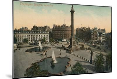 'Trafalgar Square, London', c1900-Unknown-Mounted Giclee Print