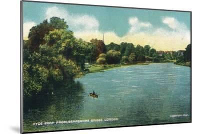 'Hyde Park from Serpentine Bridge, London', c1910-Unknown-Mounted Giclee Print