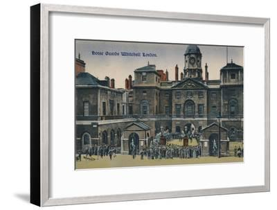 'Horse Guards Whitehall London', c1910-Unknown-Framed Giclee Print