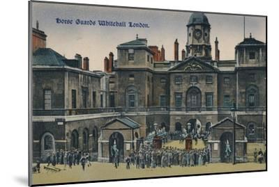 'Horse Guards Whitehall London', c1910-Unknown-Mounted Giclee Print