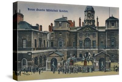 'Horse Guards Whitehall London', c1910-Unknown-Stretched Canvas Print