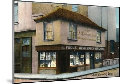 'The Old Curiosity Shop', c1910-Unknown-Mounted Giclee Print