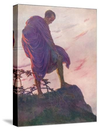 'Looking down upon the stream, he stood awhile deep in thought', c1912 (1912)-Unknown-Stretched Canvas Print