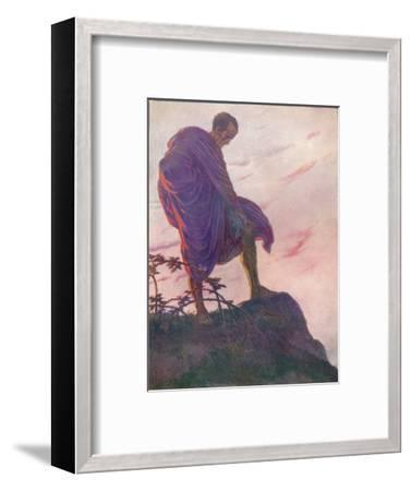 'Looking down upon the stream, he stood awhile deep in thought', c1912 (1912)-Unknown-Framed Giclee Print