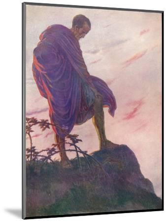 'Looking down upon the stream, he stood awhile deep in thought', c1912 (1912)-Unknown-Mounted Giclee Print