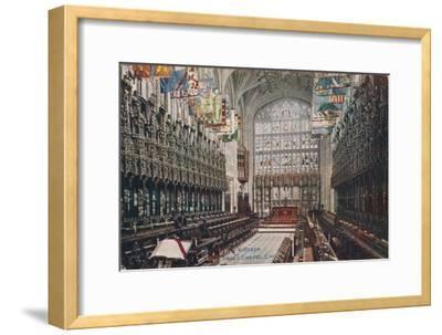 'Windsor, St. George's Chapel, Choir' c1916-Unknown-Framed Giclee Print