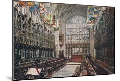 'Windsor, St. George's Chapel, Choir' c1916-Unknown-Mounted Giclee Print