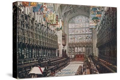 'Windsor, St. George's Chapel, Choir' c1916-Unknown-Stretched Canvas Print