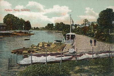'Parkers Ferry, Surbiton', c1907-Unknown-Framed Giclee Print