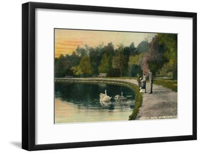 'Queens Mere, Wimbledon', c1910-Unknown-Framed Giclee Print
